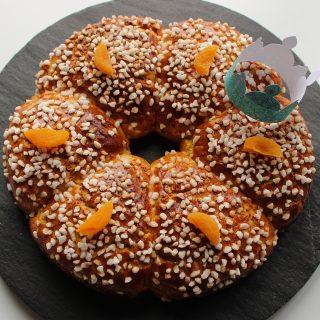 Couronne des rois vanille citron et abricots secs