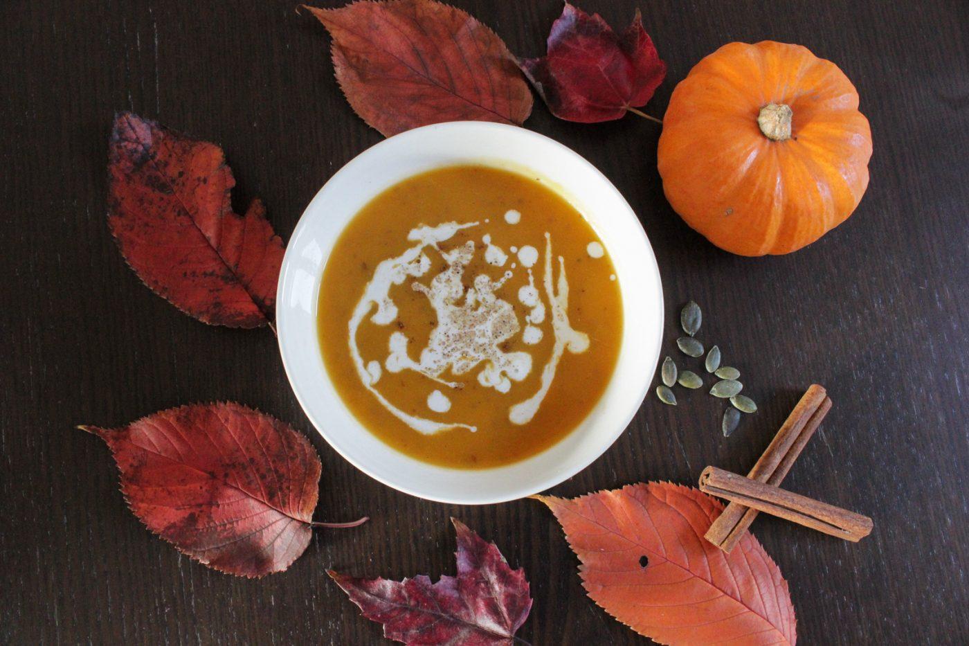 Soupe de potiron au lait de coco et aux épices douces