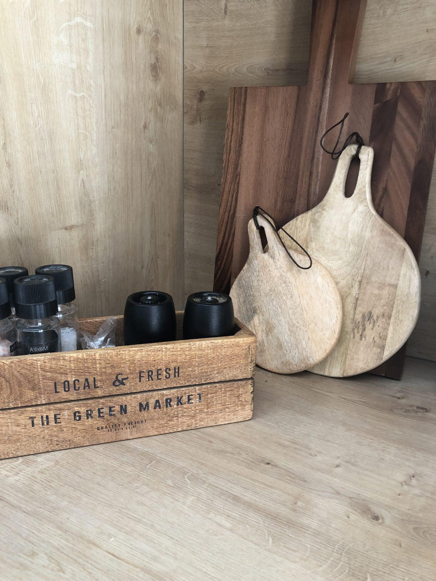 Planche en bois de présentation