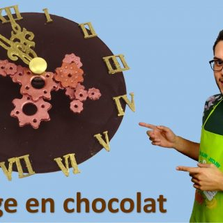 HORLOGE EN CHOCOLAT
