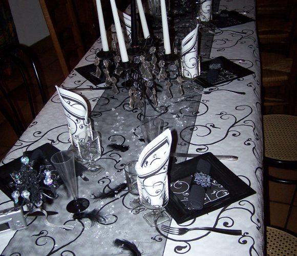 Table de fête «thème baroque»