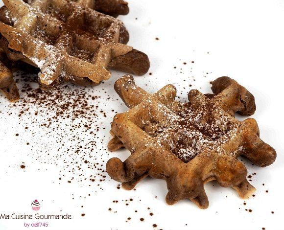 Gaufres Vegan Marbrées Chocolat Tonka