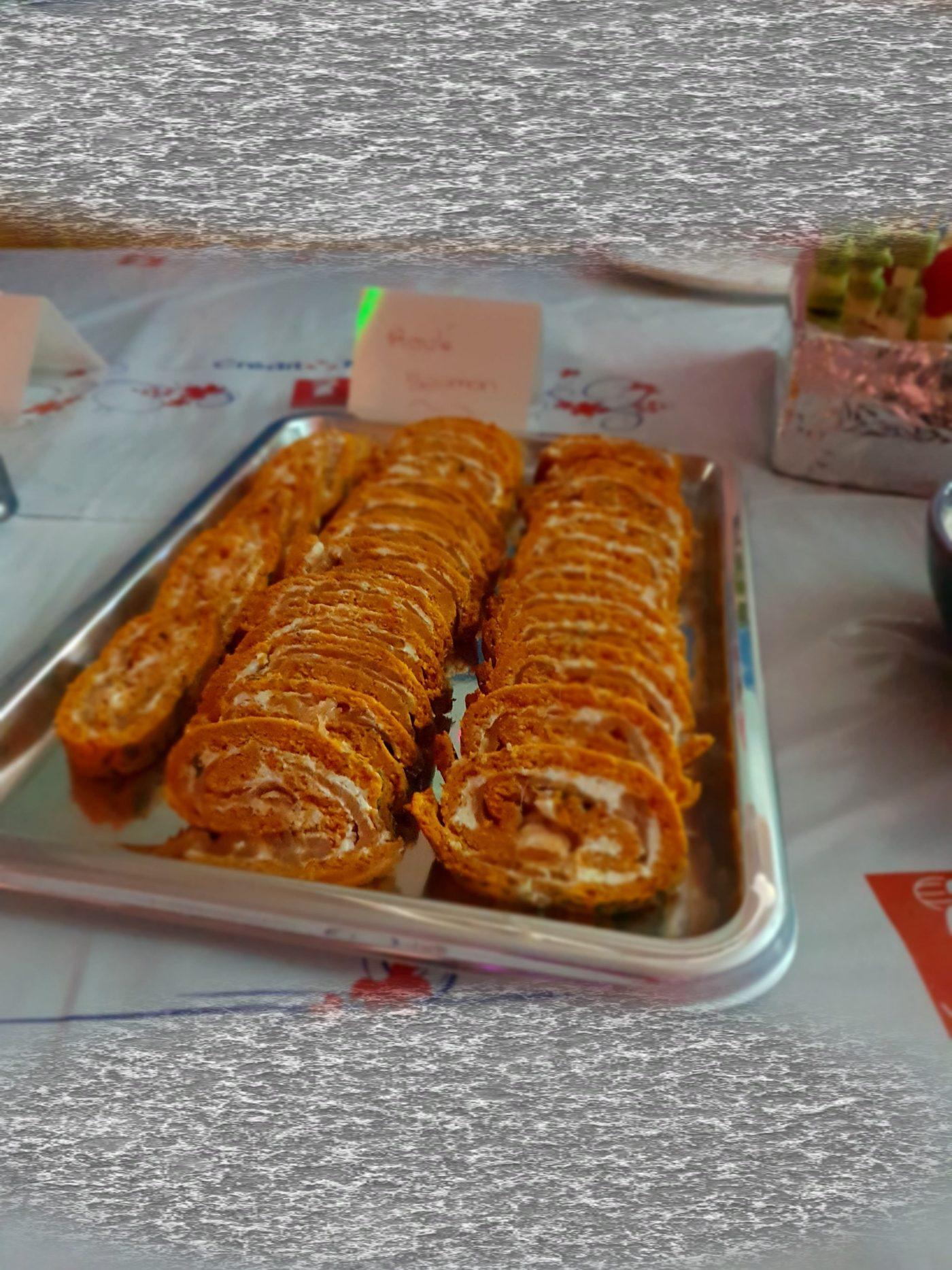 Roulé au saumon et tartare