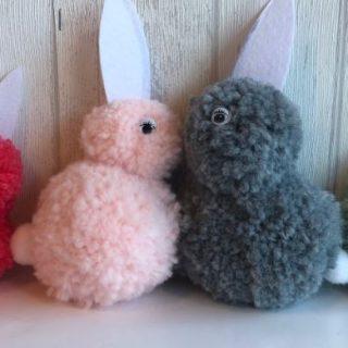 Mes petits lapins en pompons !