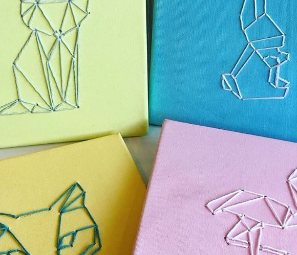 Idée DIY enfant : le cadre brodé !