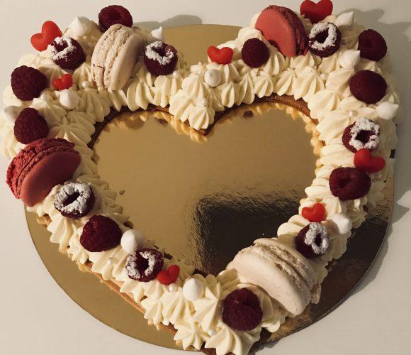 Un heart cake