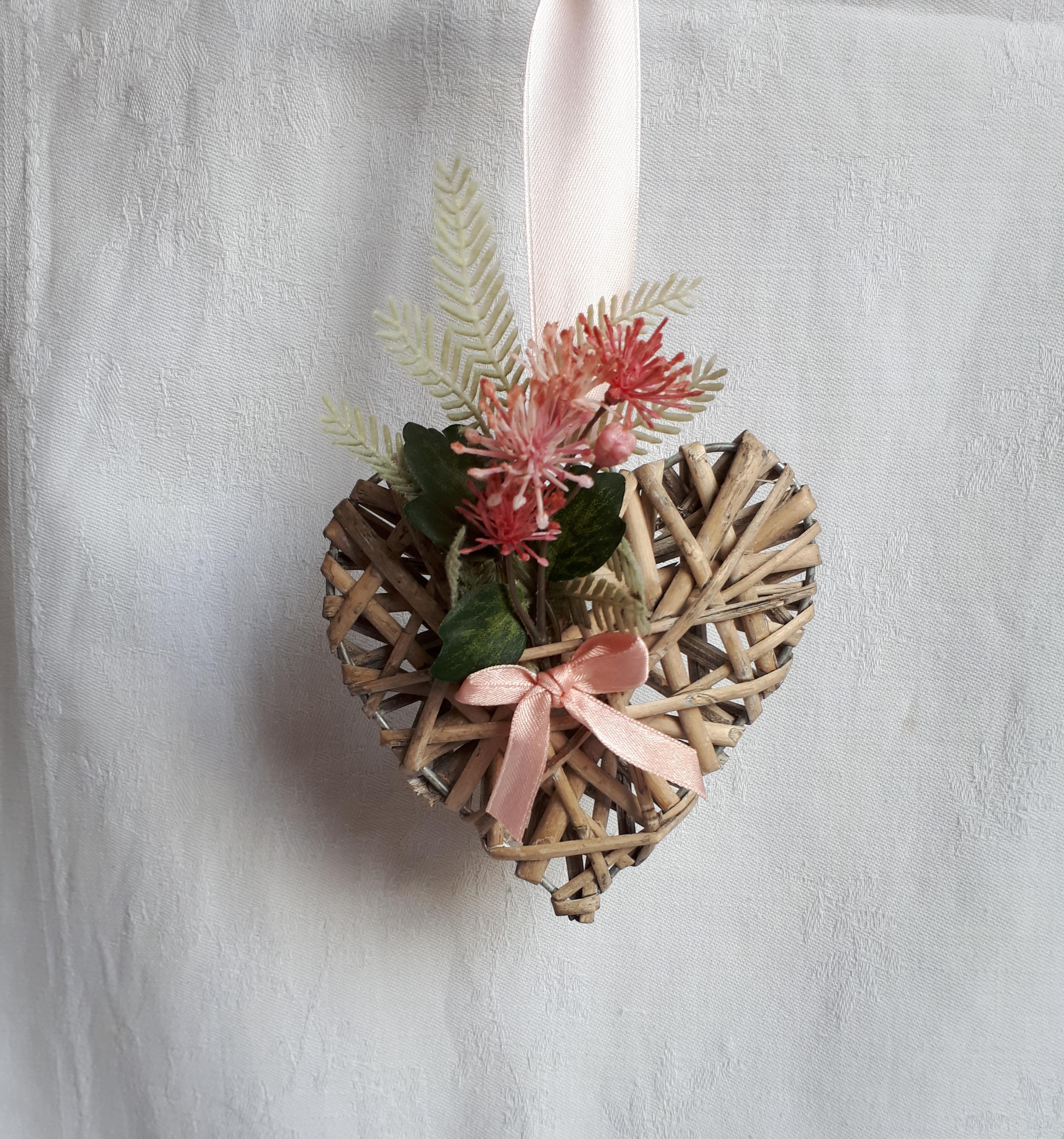 Petit coeur champêtre à accrocher partout