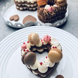 Number cake en coeur