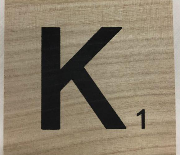 J'ai testé pour vous lettre K scrabble en bois