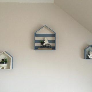 J'ai testé pour vous le set de 3 étagères maison en bois brut ARTEMIO