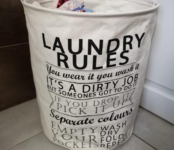 J'ai testé pour vous panier a linge en textile avec poignée LAUNDRY RULES