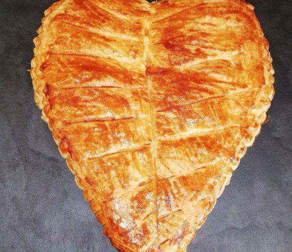 Galette Frangipane forme de cœur
