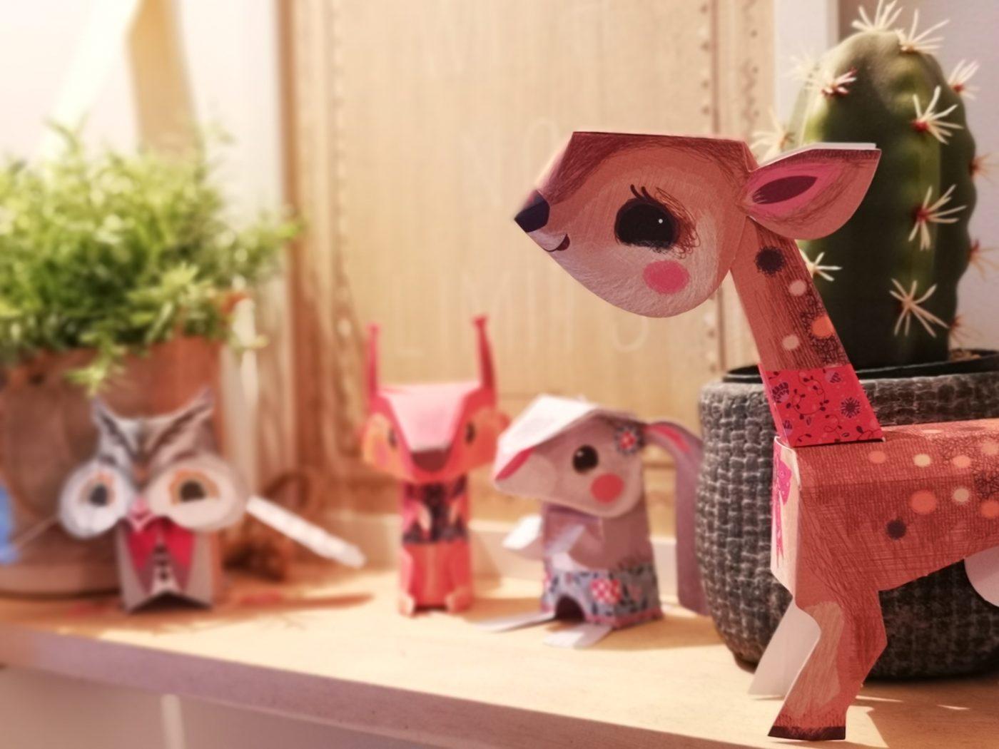 Petite origami animaux de la forêt 🐿