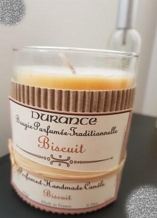 J'ai testé pour vous dURANCE Bougies parfum BISCUIT