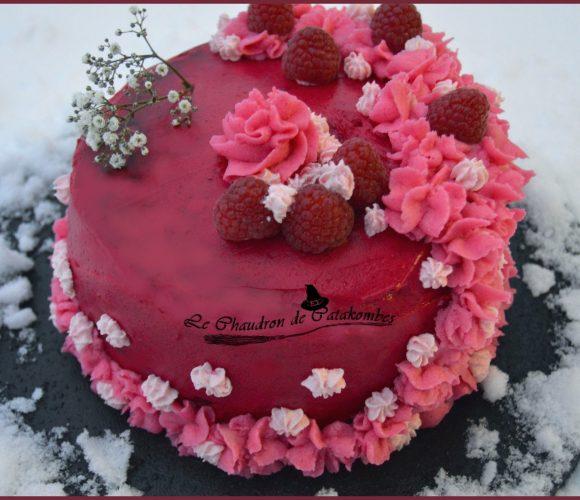 Layer cake aux fruits rouges (spécial St Valentin)