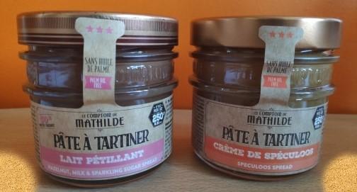J'ai testé pour vous lE COMPTOIR DE MATHILDE – Pâte à tartiner au chocolat au lait pétillant et Pâte à tartiner crème de spéculoos
