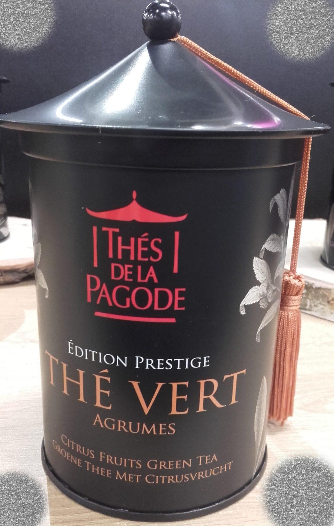 J'ai testé pour vous tHÉS DE LA PAGODE - Thé vert bio aux agrumes en boite métal 100g