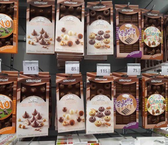 Moules en silicone pour chocolat