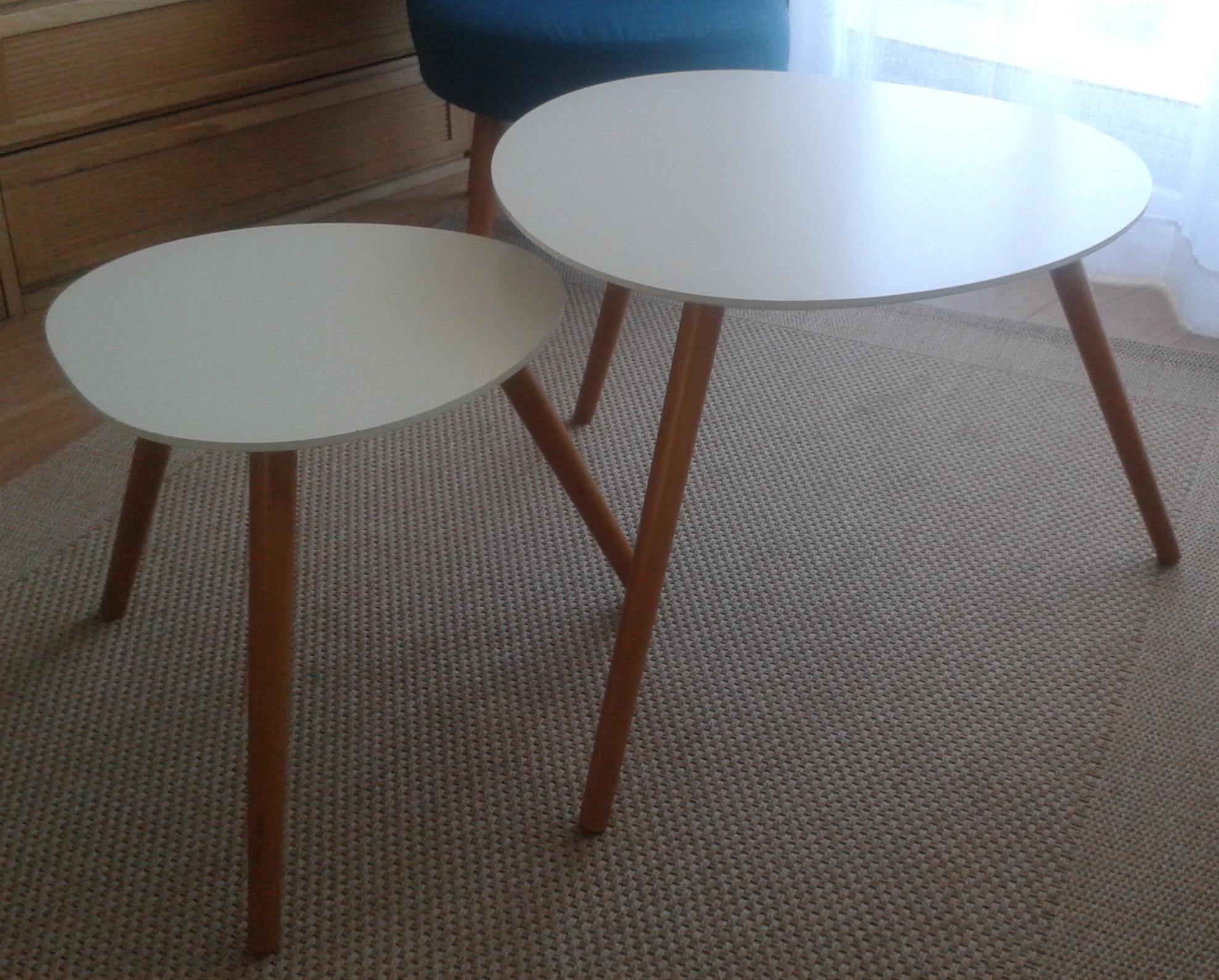 J'ai testé pour vous le lot de 2 Tables Café Blanc Mileo