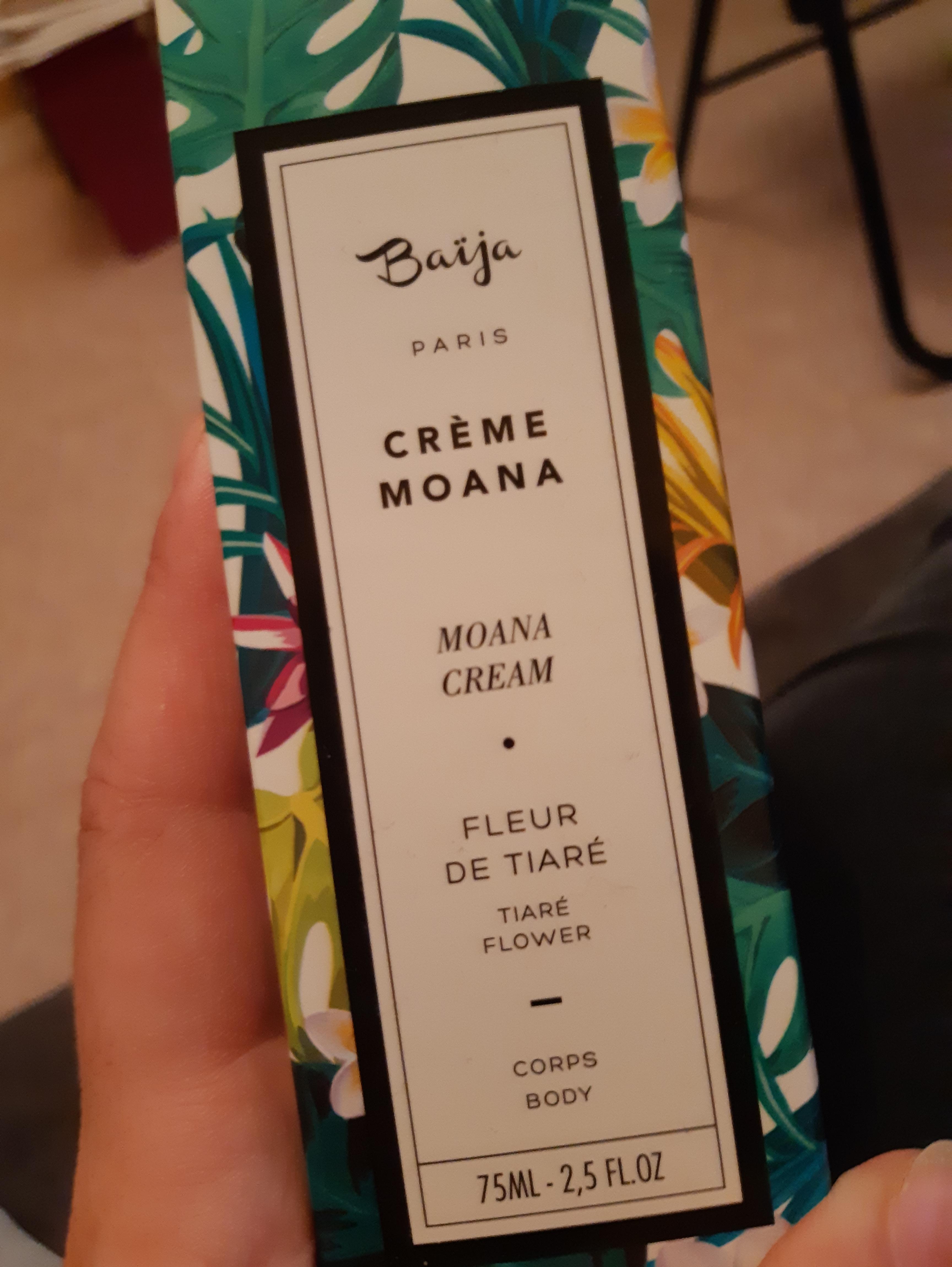 J'ai testé pour vous baïja crème MOANA pour le corps