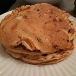 pancakes rapides aux chunks chocolat blanc et pépites de chocolats