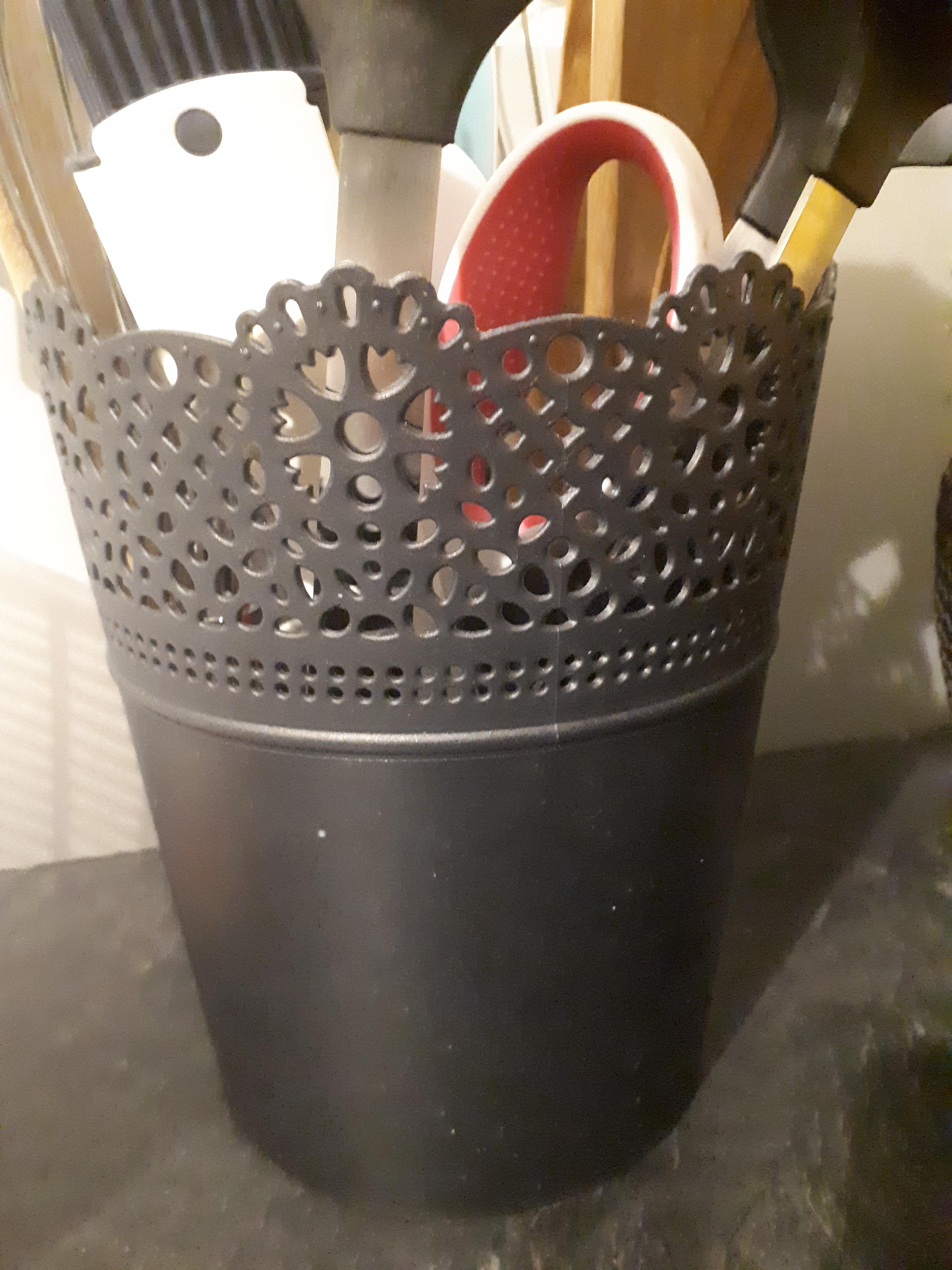 J'ai testé pour vous cache pot dentelle noir grand format