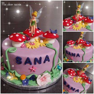 Gâteau la fée clochette