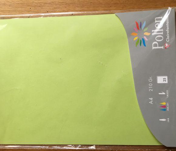 J ai testé pour vous le Papier pollen vert bourgeon