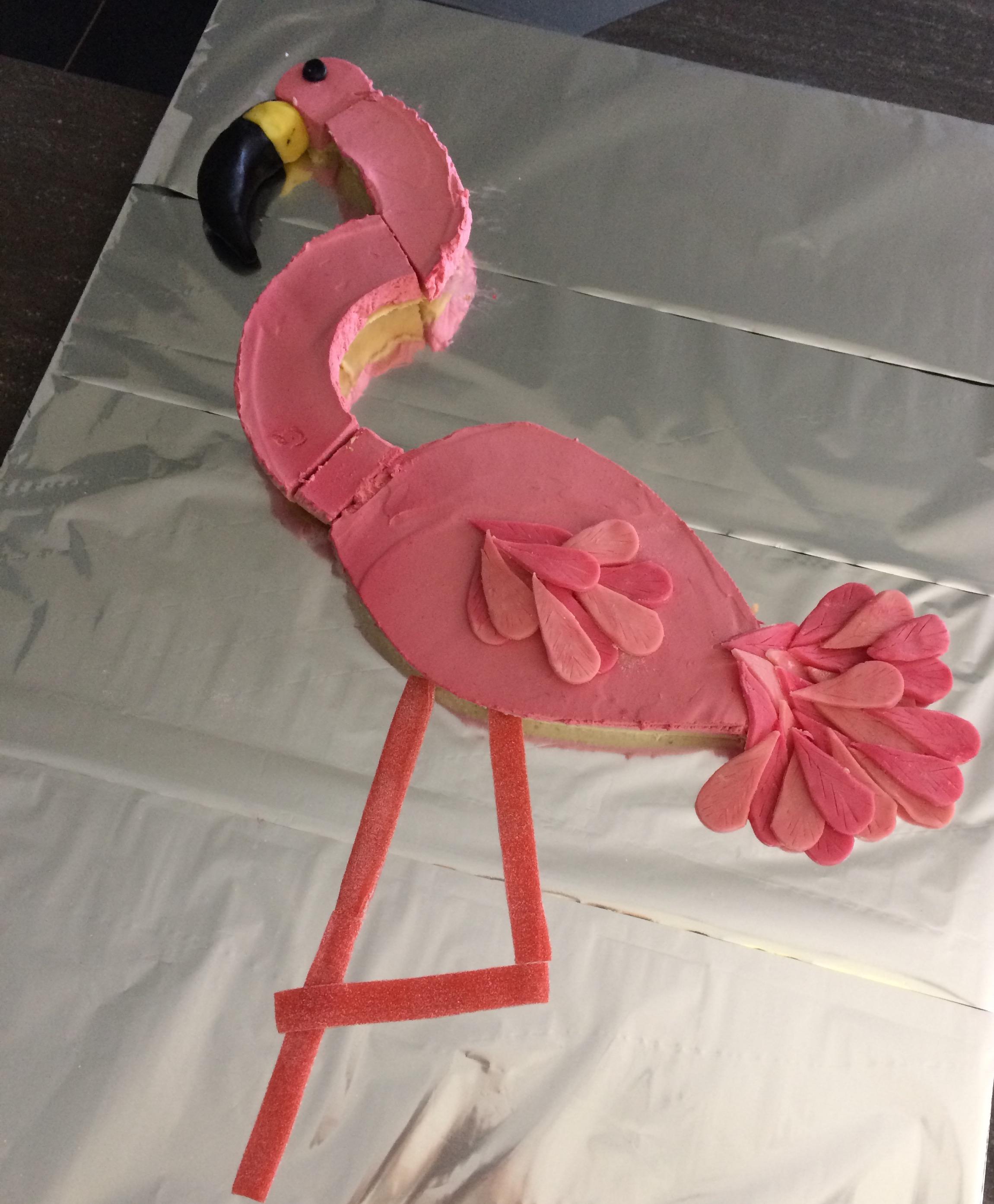 Gâteau anniversaire Le flamant rose