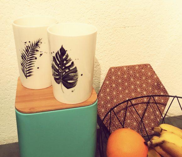 Tasse motif tropical