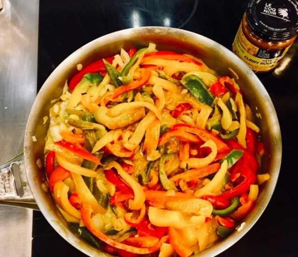 curry rouge de poivrons