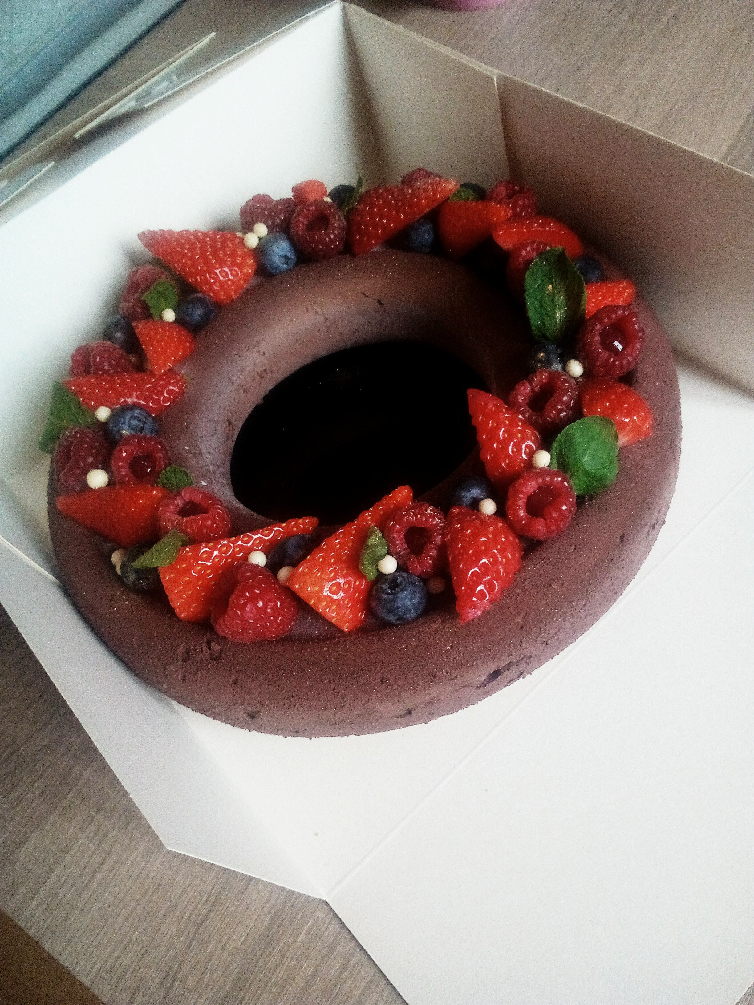 Entremet choco fruits rouge!!!