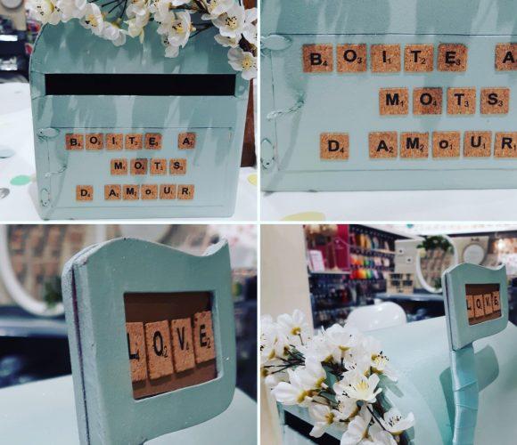 Urne boite aux lettres idée mariage