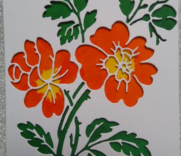 Carte bouquet de fleurs avec DIes et feutres