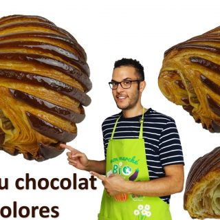 Pains au chocolat bicolores