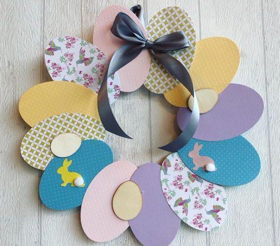Couronne de Pâques en papier pour enfant !