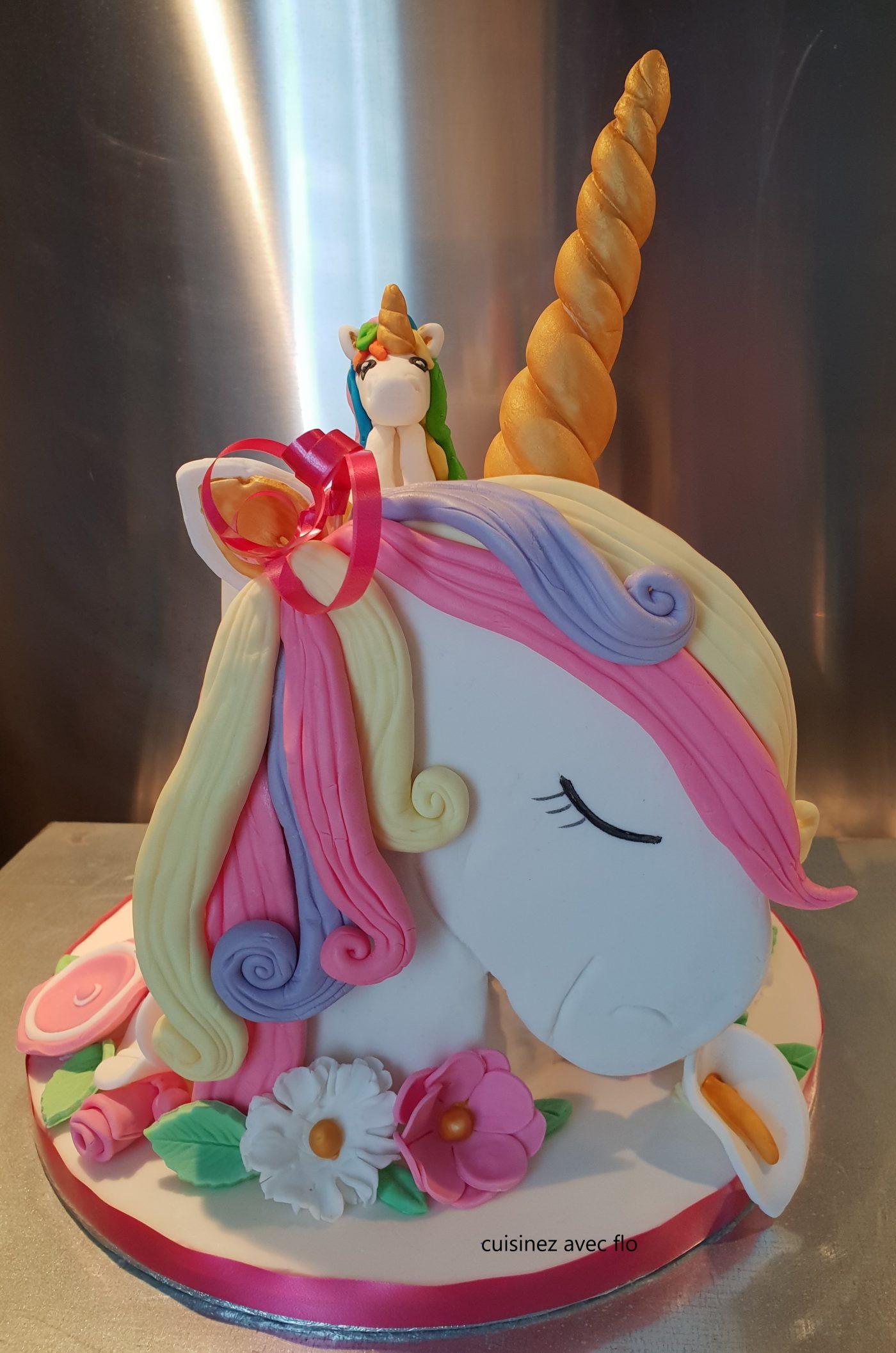 Gâteau jolie Licorne