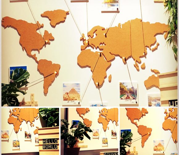 Ma carte du monde en liège