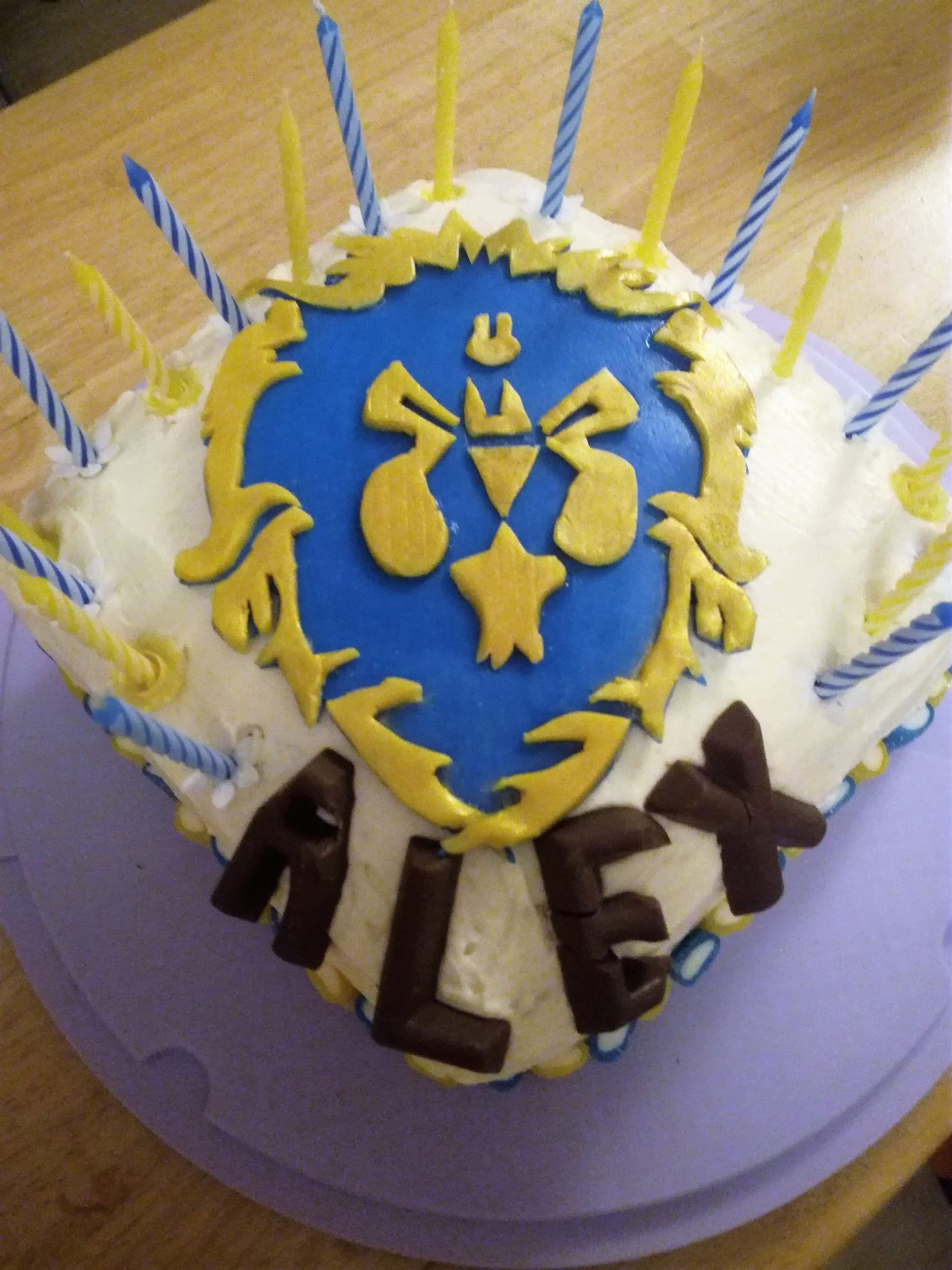 Gâteau World of Warcraft