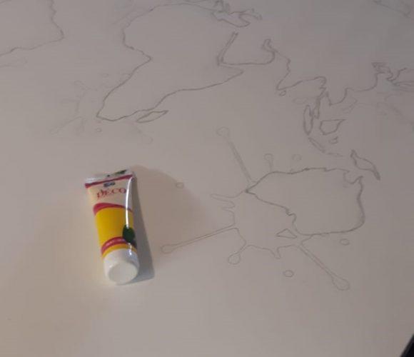 Ma peinture déco acrylique jaune soleil en tube
