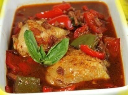 Poulet basquaise rapide et délicieux