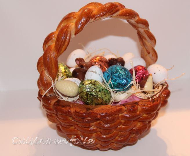 Panier brioche de Pâques