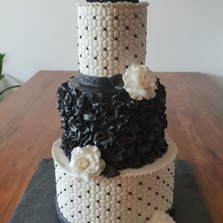 cake design noir et blanc
