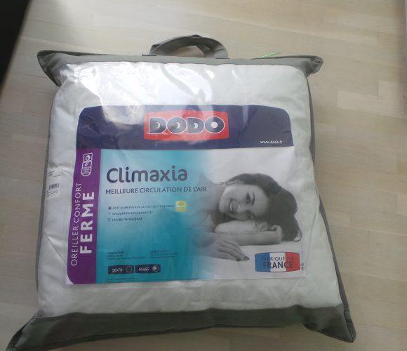 J'ai testé pour vous oreiller carré CLIMAXIA DODO