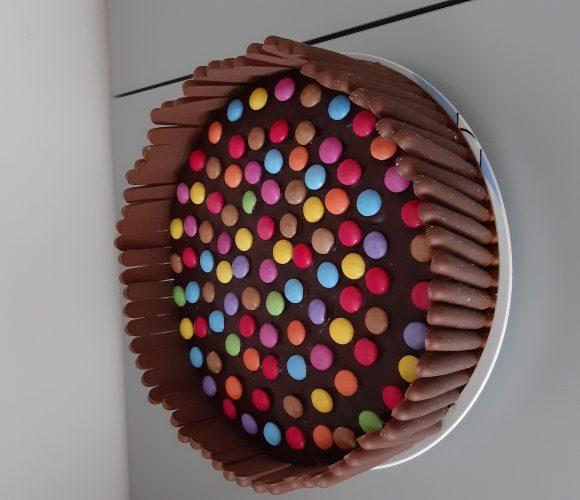 Gâteau smarties fingers