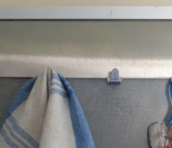 J'ai testé pour vous réglette de 4 crochets Esperia inox mat chromé 19×4,2×2 cm.