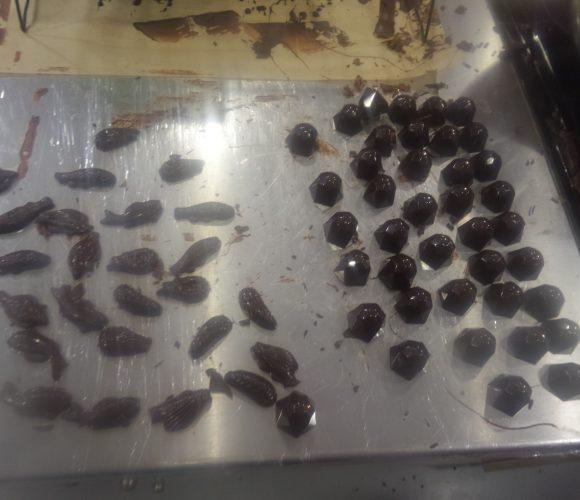 Fritures et diamants chocolats