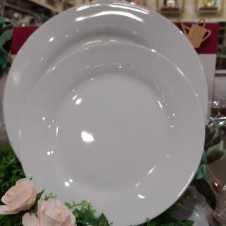 Prix en baisse sur les 18 assiettes blanches rondes en porcelaine