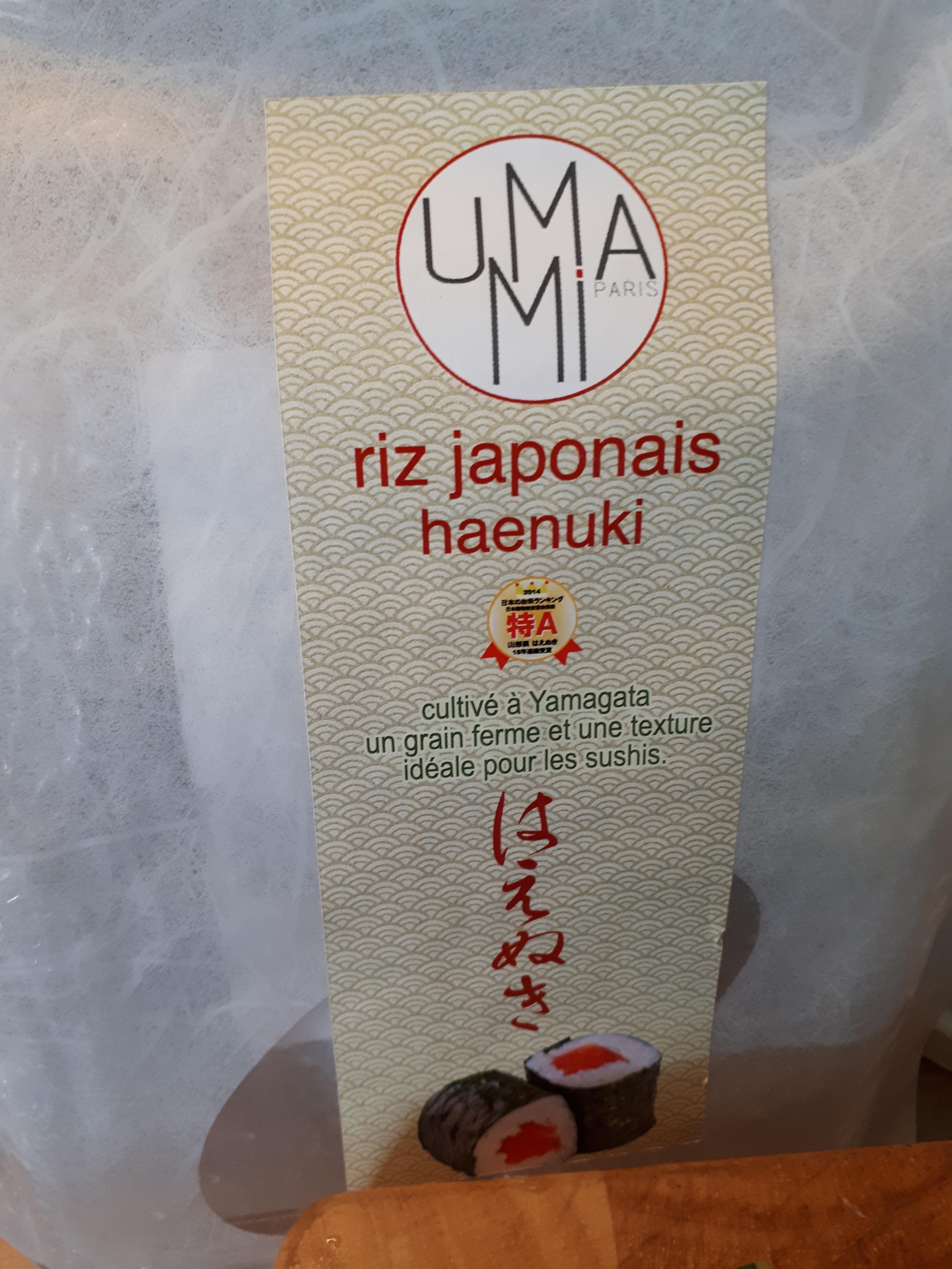 Riz a sushis Haenuki