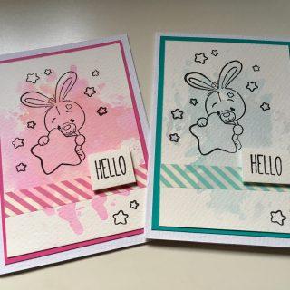 Deux cartes de naissance super faciles !